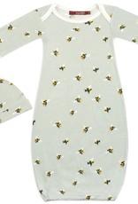 Milkbarn Bamboo Gown and Hat Set Bumblebee