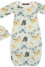 Milkbarn Bamboo Gown and Hat Set Butterfly