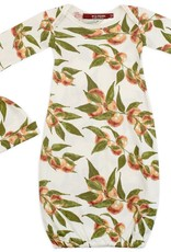 Milkbarn Organic Gown and Hat Set Peaches