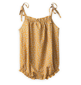 Beetworld Strap Romper Mustard Flowers