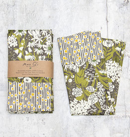 Maz Q's Reversible Napkin Sunflower Grey Set of 4