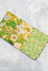 Maz Q's Reversible Napkin Sunflower Green Set of 4