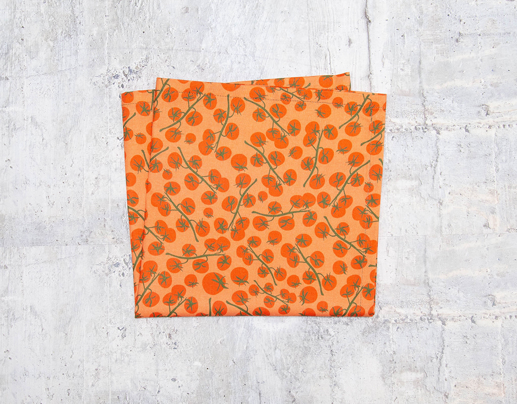 Maz Q's Napkin Tomato Orange