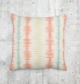 Kreatelier Dotted Stripe Pillow in Multi 17 x 17in