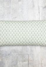 Kreatelier Block Print Pillow in Green 10 x 20in