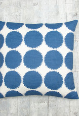 Kreatelier Splatter Pillow in Blue 17 x 17in