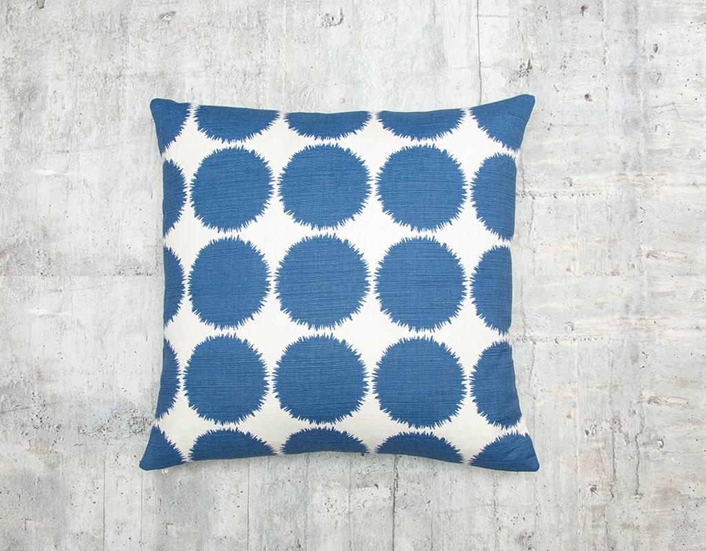 Kreatelier Splatter Pillow in Blue 17 x 17in
