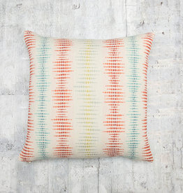 Kreatelier Dotted Stripe Pillow in Multi with Rusty Back 17 x 17in