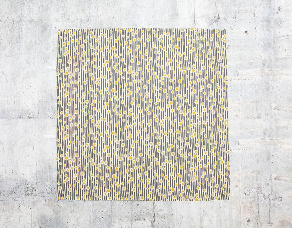 Maz Q's Napkin Sunflower Grey Set of 4