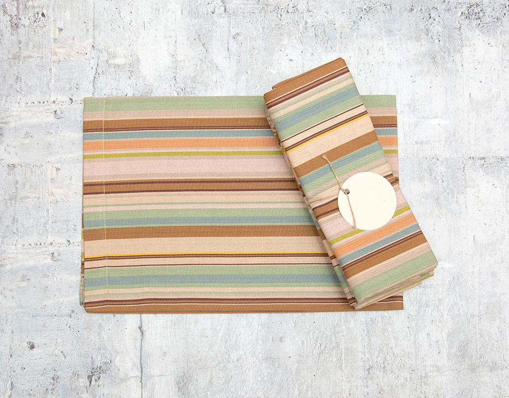 Dash & Albert Zanzibar Stripe Napkin Set of 4