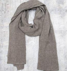 Q-Neel Linen Scarf Grey