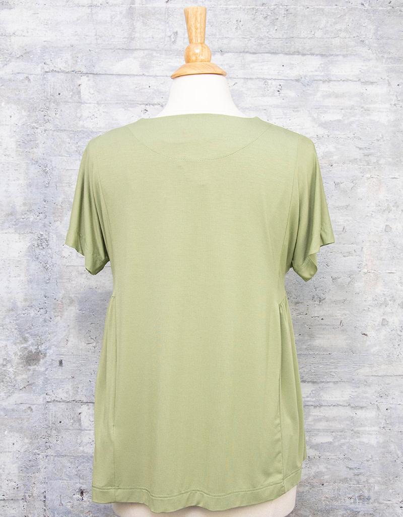 Q-Neel Top in Olive Green