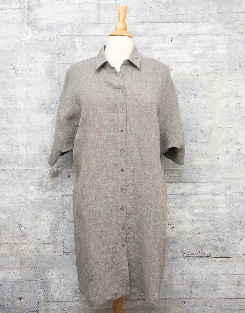 Q-Neel Short Dress in Grey