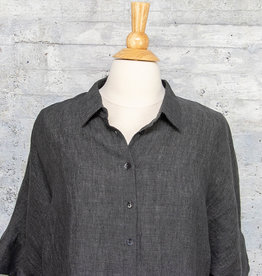 Q-Neel Long Blouse in Charcoal