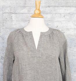 Q-Neel Linen Dress Grey
