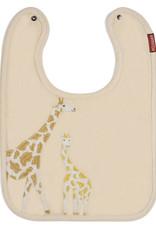 Milkbarn Applique Linen Bib Giraffe