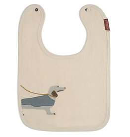 Milkbarn Applique Linen Bib Dog