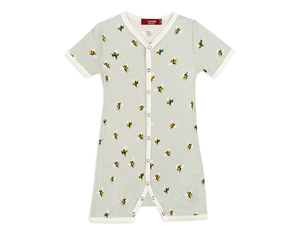 Milkbarn Bamboo Shortall Bumblebee