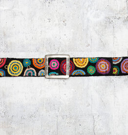 Tey-Art Circle Me Hand Embroidered Belt Black