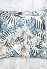 Kreatelier Tropic Pillow in Sea Blue 18 x 18in
