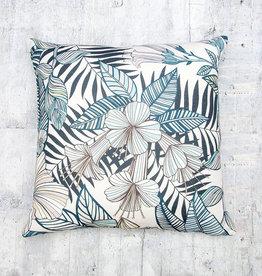 Kreatelier Tropic Pillow in Sea Blue 18 x 18in