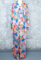 Tolani Pajama Set Grey Floral