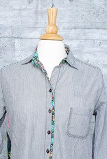 Tolani Shirt Iris Onyx with Mask