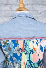 Tolani Shirt Iris Indigo with Mask