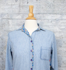 Tolani Shirt Iris Indigo with Mask