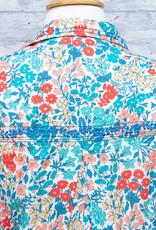Tolani Shirt Iris Turquoise with Mask