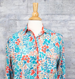 Tolani Shirt Iris Turquoise with Mask