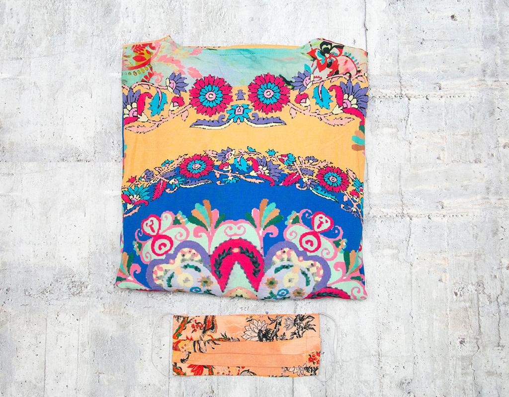 Tolani Kimono Tate Orange with Mask OS