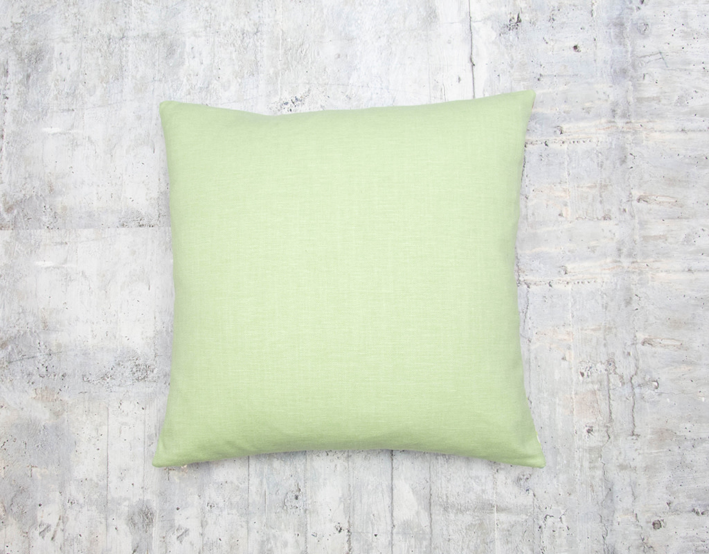 Kreatelier Woodland Friends Pillow with Green Back 17 x 17in