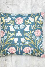 Kreatelier Forest Pillow in Blue 18 x 18in