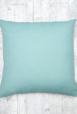 Kreatelier Embroidered Pillow Flowers & Butterflies Blue Back  18 x 18in