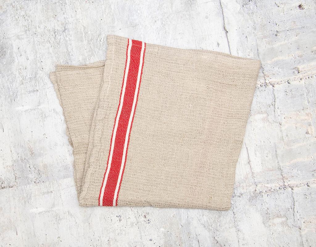 Pokoloko Linen Hand Towel Rouge