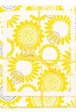Esthetic Living Tea Towel and Swedish Dishcloth Sunflower Yellow