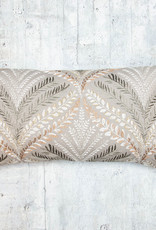 Kreatelier Embroidered Branches Pillow 13 x 23in