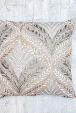 Kreatelier Embroidered Branches Pillow 18 x 18in