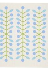 Swedish Dischcloth Berry Branch Blue