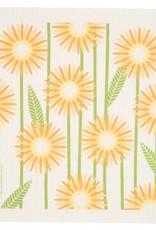 Swedish Dischcloth Daisies Yellow