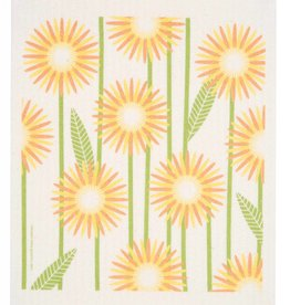 Swedish Dischcloth Daisies Yellow