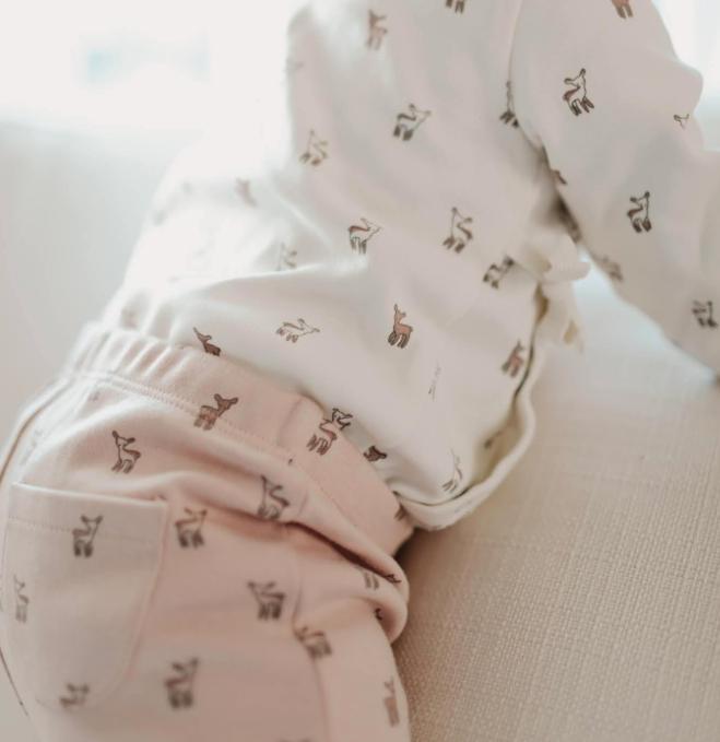 Pehr Designs Organic Kimono 3 Piece Set Hatchling Fawn