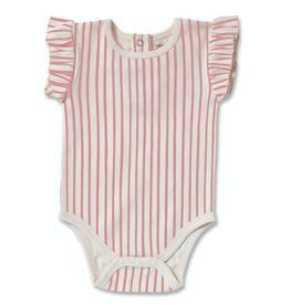 Pehr Designs Organic Ruffle One Piece Stripes Away Pink