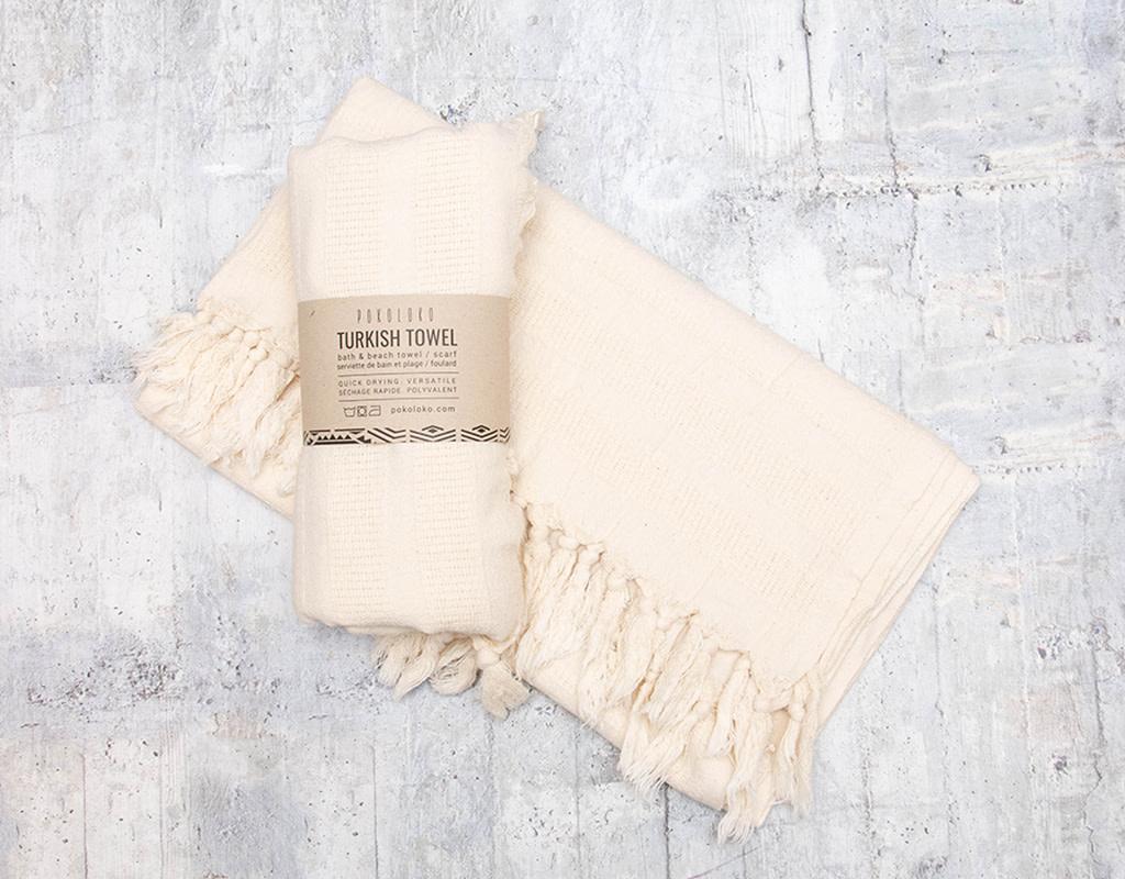 Pokoloko Turkish Towel Shannon Ecru