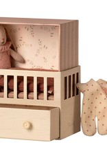 Maileg Baby Room with Micro Bunny Pink