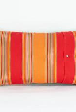 Laura Burkett Designs Cuscino Lumbar Pillow Dark Chocolate / Orange 18 x 10in