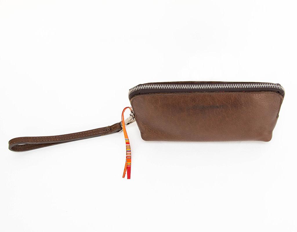 Laura Burkett Designs Borsettina Clutch Dark Brown with Sunbrella Lining