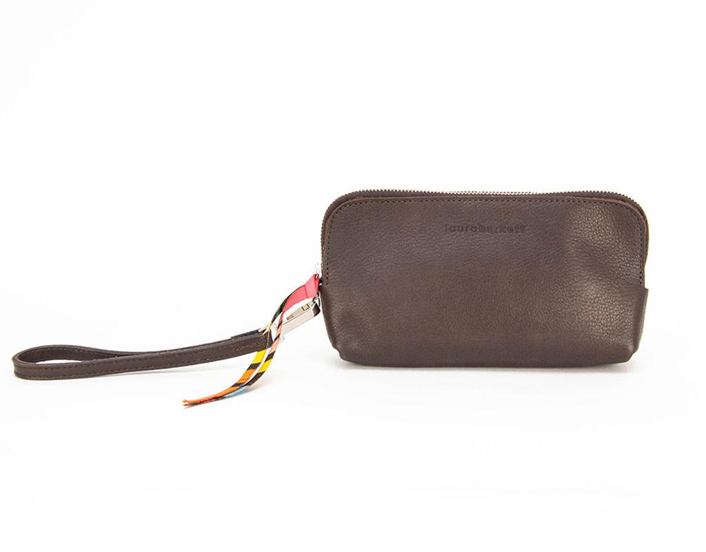 Laura Burkett Designs Borsettina Clutch Dark Chocolate with Sunbrella Lining