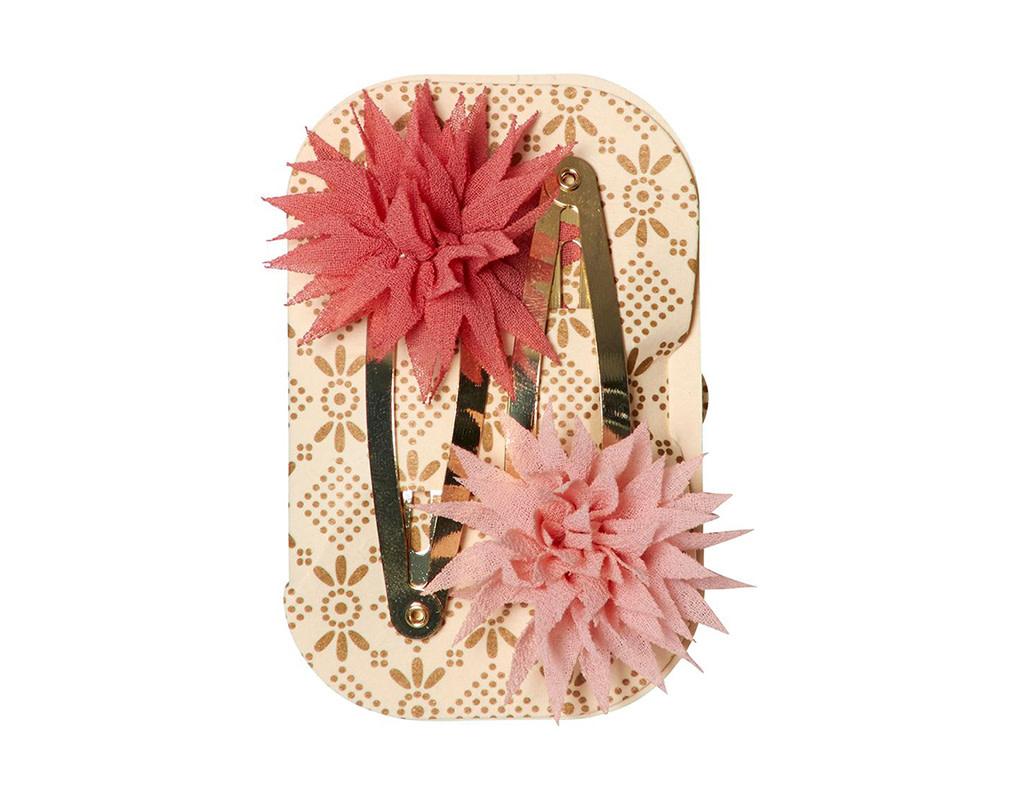 Maileg Dahlia Flower Clips Raspberry/Melon 2pc